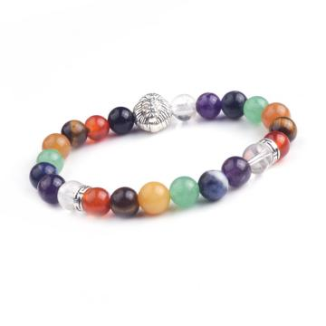 New Products 2016 Semi Precious Stone Lion Head Gemstone Chakra Bracelet