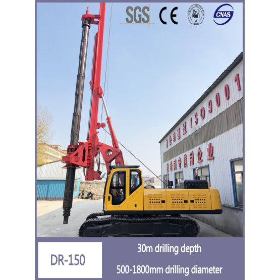 Hole Drilling Crawler High Pressure Pile Driver DR-150