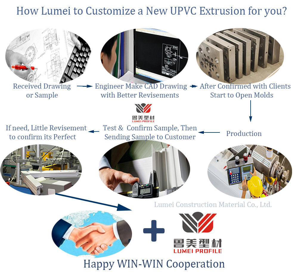 Customized UPVC extrusion