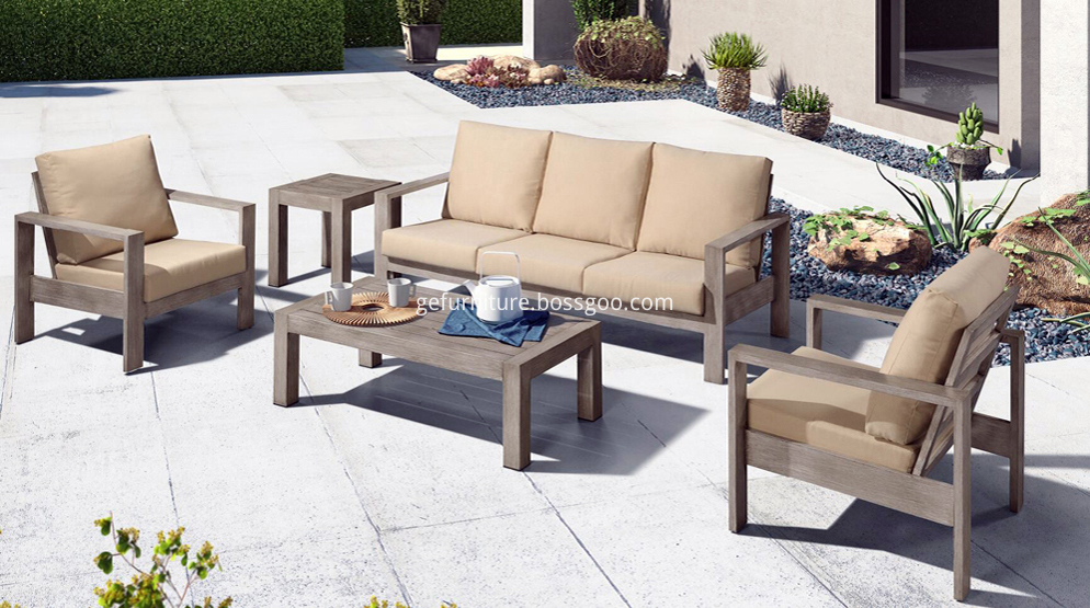 Aluminum modern outdoor furniture sofa set