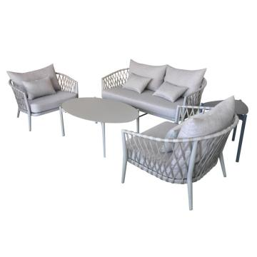 Classic European style outdoor rope sofa set