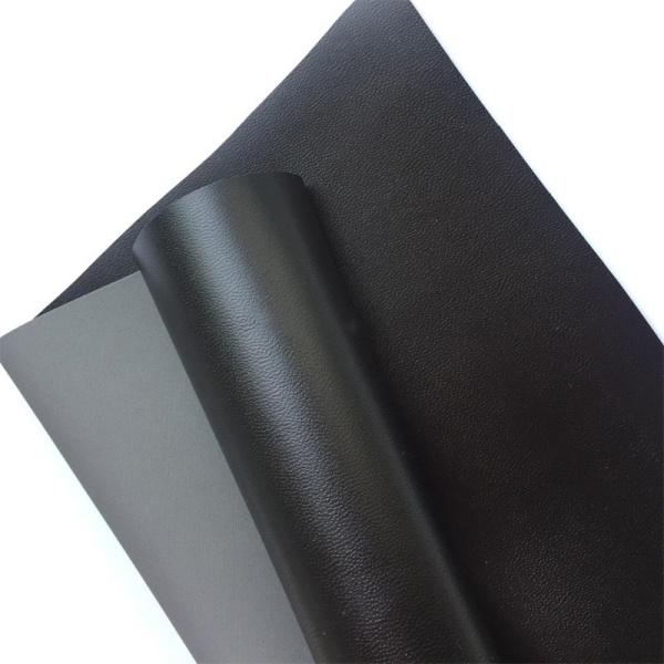 Black Elastic Water Based PU Leather For Pants