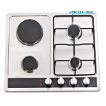 4 Burners Gas Hob Enamel Pan Supports