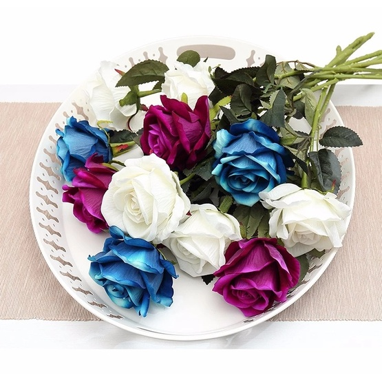 High Quality 1 head Real Touch Artificial Rose Flowers