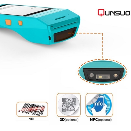 industrial pda barcode scanner terminal with mobile printer