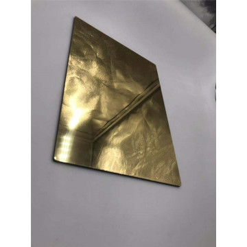 Golden Aluminum mirror composite panel