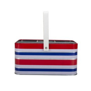 Horizontal Stripes Red White Bule Cocktail Ice Bucket