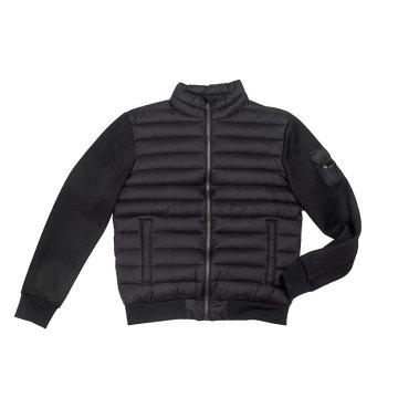 High density nylon shell fabric Men`s padding jacket