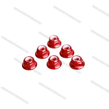 Colorful aluminum Nylon Insert Flange Lock Nuts