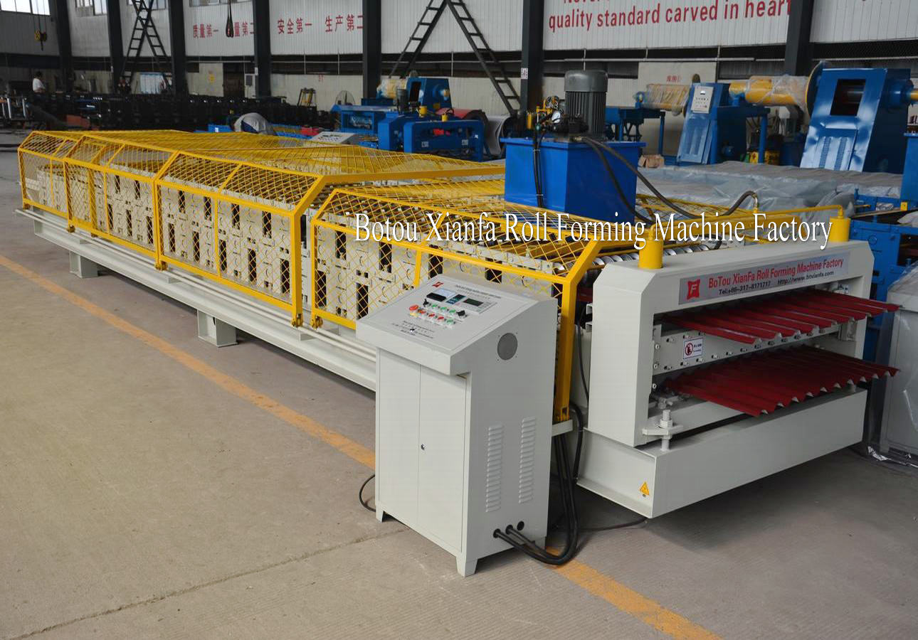corrugated roof tile and trapezoidal machine