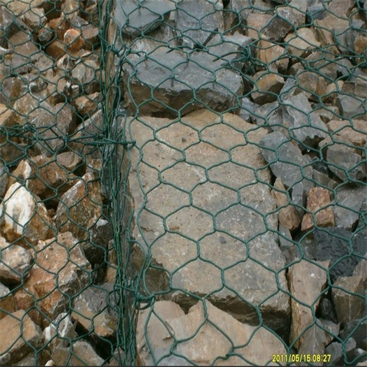 anping factory hexagonal gabion fence with ISO 9001