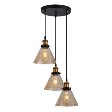 3 Lamps Glass Shade Pendant Light
