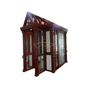 Fiber House Roof Container Curved Glass Sunroom