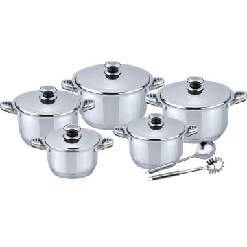 Wide edge 11pcs cookware set