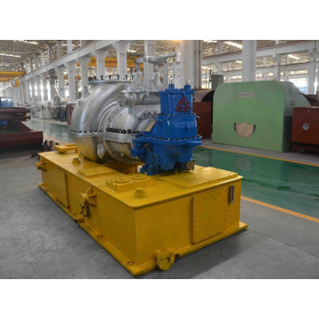 Oil tank as base plate steam turbine