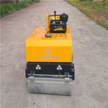 Mni walk behind double drum road roller vibratory