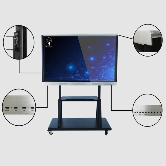 65 inches touch panel with mobile stand