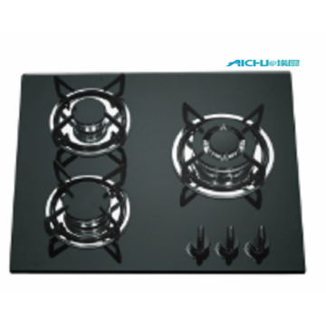 3 Burners Built In Tempered Glass Gas Hob