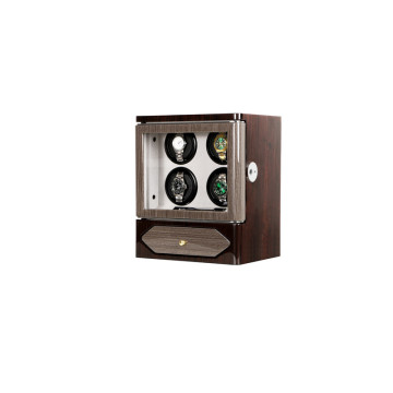 Walnut exterior wooden mechanism 4 watch winder