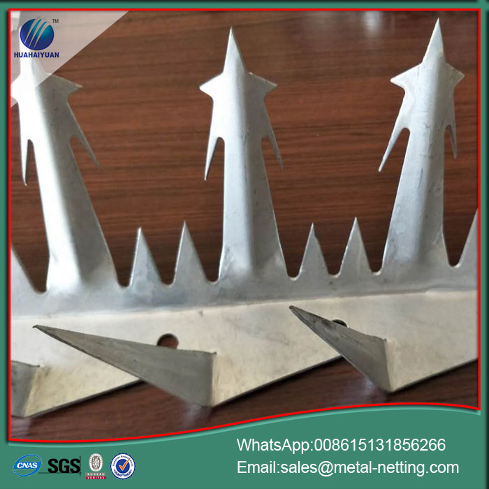 razor spike fence metal fence spike wall