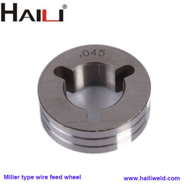Miller type wire feeder wheel
