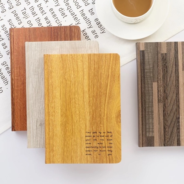 Decorative waterproof wood grain paper for modern book