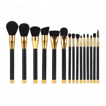 15PC PROFESSIONAL GOLD TRIM BRUSH SET