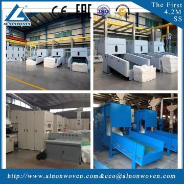 Automatic weighing ALKS-1300 fiber opening machine machine width 1.3m For geotextile