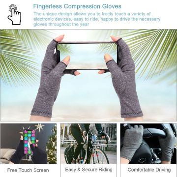 Compression Rheumatoid Gloves Women Fingerless Athritis Gloves