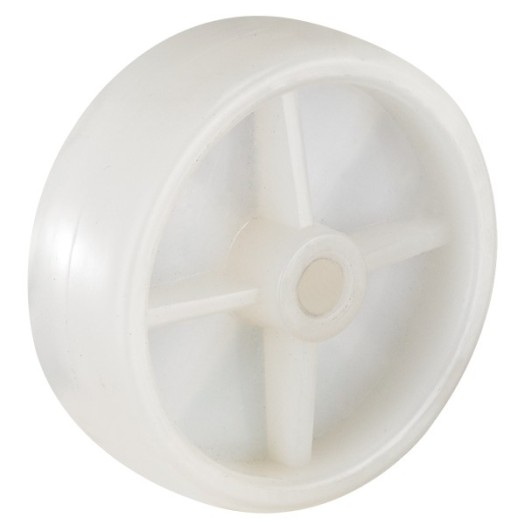 1'' White PP Industrial Casters with side brake
