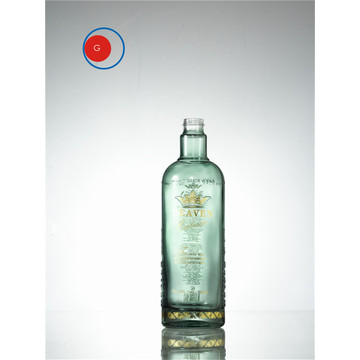 Brandy Glass Bottle Round Shape OEM