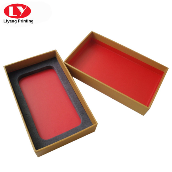 Printed Paperboard cellphone packaging box with foam