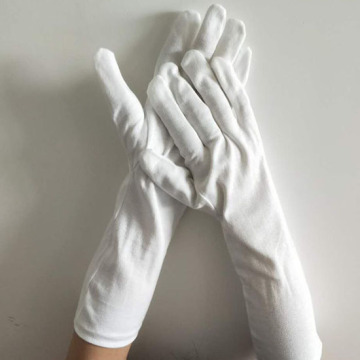 Cotton White Long Working Gloves