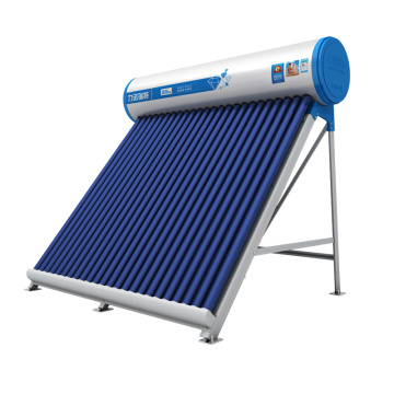 Non-pressurized evacuated tube solar water heater
