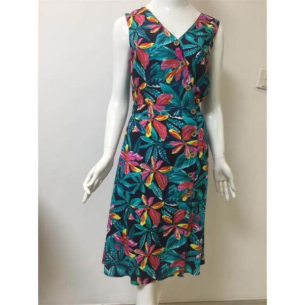 printed viscose long dress