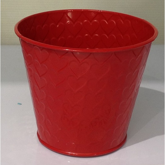 Red decorative flower pot