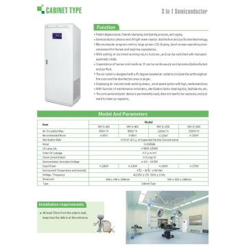Cabinet type best portable air purifier for mold