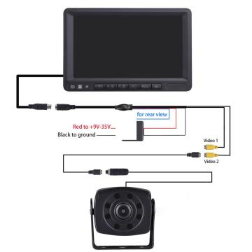 Wired AHD Waterproof Backup Camera Kit