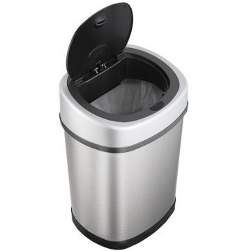12L Stainless Steel Automatic Sensor Wastebin for Household