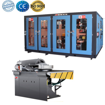 High temperature electric induction crucible heating furnace