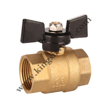 Butterfly brass ball valve