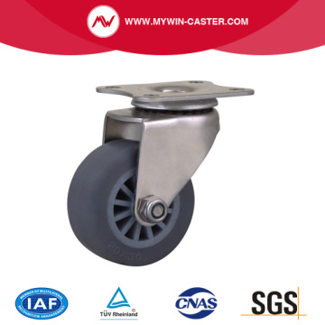 Stainless 2 Inch 40Kg Plate Swivel TPE Caster