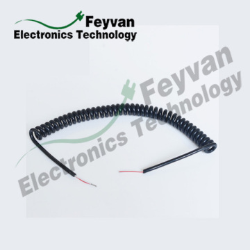 Custom Spring Wire Cable Assembly with PVC Insulation