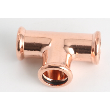 Copper M-profile press fitting tee