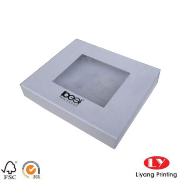 White magnetic gift box with clear window