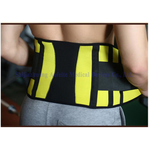 Waist support bracket for waist of body-building apparatus