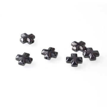 No-Magnetic Cross Hematite Beads 10x10mm