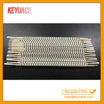 N Type White Color Plastic Cable Markers