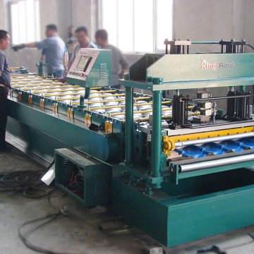 Advanced technology roofing roll forming glazed tile production line