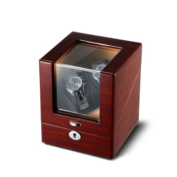 Mahogany Veneer Sheet Watch Winder Box